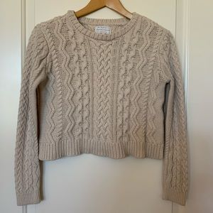 Kendall &  Kylie cable knit crop sweater